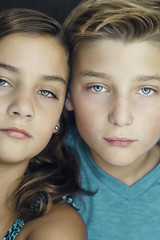 (Rebecca812) Tags: girl boy portrait crop brother sister twin 11 middleschool people beauty canon photography rebeccanelson rebecca812 togetherness bond family adolescence tween preteen