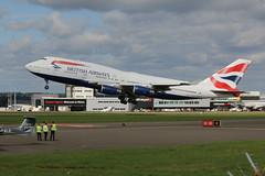 G-BYGB leaving. (aitch tee) Tags: aircraftspotting cardiffairport aircraft 4engine airliner britishairways boeing b747400 takeoff bamc gbygb maesawyrcaerdydd cwlegff walesuk