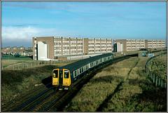 508108 (Jason 87030) Tags: mersey merseyrail blue grey flats lineside december 1985 vintage classic scan slide emu unitr train railway liverpool walleseygroveroad unit 508108
