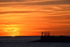 Sunset....... (rienschrier) Tags: holland flushing vlissingen river kleuren zonsondergang colors sunset