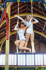 Silver Starlets (gabi-h) Tags: silverstarlets crystalpalace pictonfallfair gabih acrobats swing glamorous picton princeedwardcounty girls athletic smilingfaces glitter starlight