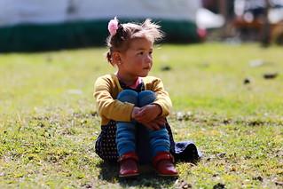 Child at yurt