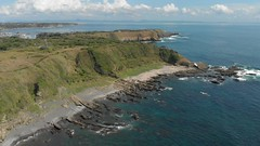 4K DRONE LANDSCAPE at Jyogashima Iland (城ヶ島) (*shin*) Tags: drone dji blue sea beach wave jyogashima 城ヶ島 rocky breakingwave emerald 4k mavicair helicoptershot dive