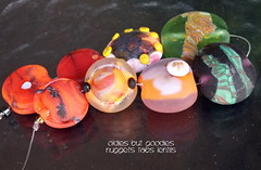 Oldies but Goodies Nuggets Tabs Lentils (Laura Blanck Openstudio) Tags: openstudio openstudiobeads glass handmade lampwork murano beads set made usa fine arts jewelry art artist artisan whimsical funky odd colorful multicolor abstract asymmetric earthy organic bohemian boho matte opaque frosted gypsy etched glow glowing nuggets lentils tabs charms tumbled orange mango coral green yellow lilac grape lavender red burnt encased dots twistie transparent umber pastilles