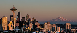 the city and the mountain - Seattle - Washington