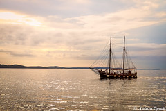 A Smooth Sea Never Made A Skillful Mariner (_Natasa_) Tags: sea sky sunset boat water clouds ship sailing croatia adriaticsea jadranskomore zadar natasaopacic natasaopacicphotography canon canoneos7d canonef2470mmf28liiusm nature