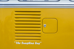 The sunshine bus (Jan van der Wolf) Tags: map186518v vw car yellow geel volkswagen bus vwbus auto transporter lines lijnen rooster grid airgrid benzinedop fillercaptankfillercap fuelcap tankfiller fuelfillercap tankdop klep