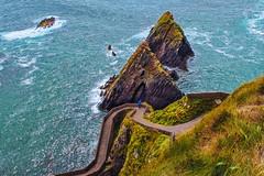 path on dunquin pier (-liyen-) Tags: dingle dinglepeninsula dunquinpier ocean rocks summer ireland atlanticocean coast water fujixt2 seascape scape landscape matchpointwinner mpt673 challengeyouwinner