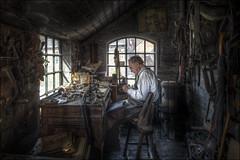 Blists Hill Tack Maker (Darwinsgift) Tags: blists hill victorian town ironbridge museum telford tac maker