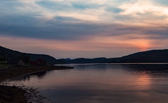 Colorful evening (bogroa) Tags: mood fjord fantasticnature water sunset colours mountains beach