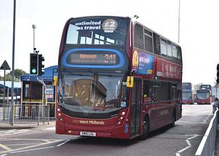 'National Express West Midlands' Alexander Dennis Enviro 400MMC '6123, Dee-Anna' (SN15 LGL)