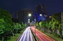 內湖科學園區夜車軌 (szintzhen) Tags: 車軌 道路 建築 夜景 燈光 天空 台北市 台灣 sky cartrack night light road building taipeicity taiwan