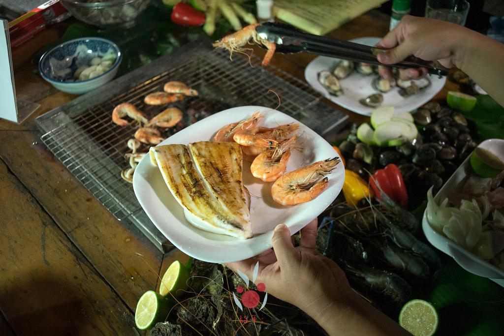 最奢華的中秋烤肉組 海鮮大集合之 龍膽石斑、泰國蝦、蚵、大卷 |小農聯盟20