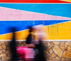 Khareef Festival Mural (Packing-Light) Tags: 120 6x45 mamiya6451000s analog film mediumformat kodak portra160 negative c41 reversal khareef festival mural vibrant saturated salalah oman middleeast wall