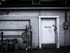 Deliveries Only (RandallMcRoberts) Tags: alley artphotography bw blackandwhite fineartphotography monochrome