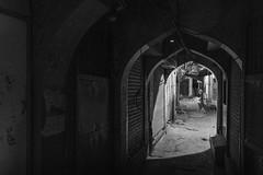 Back way on a quiet night (charlesgyoung) Tags: india olddelhi d500 delhi rajasthan charlesyoung karineaignerphotographyexpedition nikon nikonphotography nikondx streetphotography blackandwhite