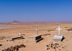 Christian tombs in the desert, Cunene Province, Curoca, Angola (Eric Lafforgue) Tags: africa angola angola180885 arid catholicism cemetery christianity colourimage copyspace cross cultures cuneneprovince curoca day death desert developingcountries grave gravestone horizontal kuroca landscape memories nature nopeople nonurbanscene outdoors portuguesecolony religion sadness sand scenics spirituality tomb tranquilscene