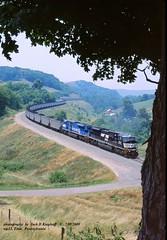 NS 7216-7212 Manor, PA 7-09-07 (jackdk) Tags: train railroad railway mga monongahela monongahelarailway cr conrail ns norfolksouthern manor manorbranch time timepa locomotive emd emdsd80mac sd80mac sd80 coal coaltrain coaldrag