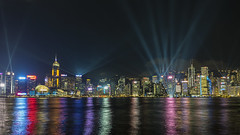 Lights Show (syf22) Tags: hongkong harbour water victoriaharbour lightshow symphonyoflights displays laser show dark dusk evening colourful night laserlights modern buildings architecture cityskyline moderncity fareast rainbow dock shelter shore waterfront seafront bay cove inlet earthasia