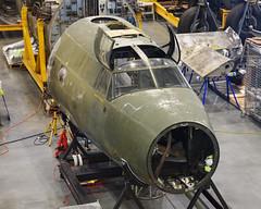 "B-26B ""Flak Bait"" in Restoration (Ian E. Abbott) Tags: glennlmartincompany martin b26b b26 marauder flakbait worldwariiaircraft wwiiaircraft aircraftrestoration restoration nationalairandspacemuseum nasm stevenfudvarhazycenter udvarhazy"
