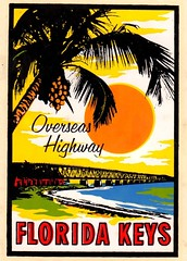 Overseas Highway, Florida Keys (EllenJo) Tags: vintagetraveldecal decal waterdipdecal vintage ellenjo