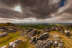 View From a Cloudy Coxtor (trevorhicks) Tags: westdevondistrict england unitedkingdom gb naked dartmoor tor rocks pork hill coxtor sky clouds outdoor grass fields farm wide canon 5d mark iv sigma