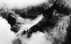 Patience (John Westrock) Tags: blackandwhite landscape mountains clouds nature snoqualmiepass washingtonstate pacificnorthwest canoneos5dmarkiii canonef100400mmf4556lisusm monochrome johnwestrock