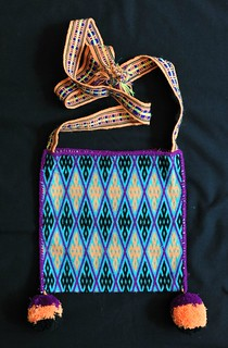 Huichol Embroidered Bag Mexico Morral