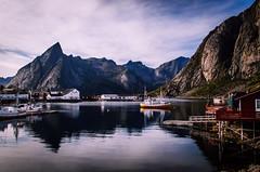 Fishing village (mabuli90) Tags: lofoten norway village fish sea water summer mountain building house boat dock