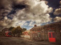 Redruth Railway Station (Helen Orozco) Tags: sliderssunday hss redruth snapseed clouds bus railwaystation