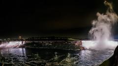 Fisheye View of Niagara Falls at night (mjhedge) Tags: getolympus oly em1mkiiomdem1markii omdem1mkii omd 8mmf18 8mmf18fisheye fisheye niagarafalls americanfalls horseshoefalls night