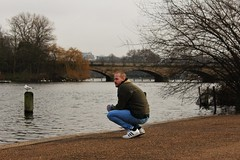 A brother (Marla´s World) Tags: london travel viajes brother bridge puente highpark winter invierno