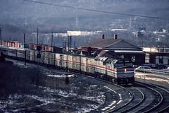 Amtrak; Lewistown Junction PA; 1/1992 (Railroad Photographer) Tags: diesel pennsylvania amtrak amtk pa