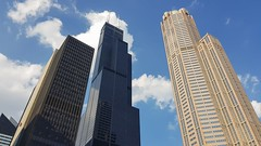 Chicago (Sandra & Dean K.) Tags: chicago usa us united states america deep dish pizza downtown willis tower sears hancock illinois seefood bob chinns signature lounge skyscraper cloud gate the bean millennium park