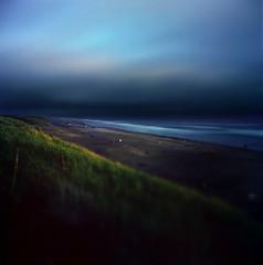 (Zeb Andrews) Tags: hasselbladflexbody kodakektar100 beach landscape film pacificnorthwest longexposure ireallywantedtotitlethis thetruthisnotthetruth butdecidedididntreallycaretorepurposethatunfortunatecomment dusk pacificocean