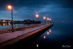 Night reflections (Magda Banach) Tags: canon gdynia blue city clouds colors evening inky lamps landscape lanterns niebieski niebo night poland polska sky summer view pomorskie pl