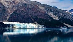 Glacier Bay Reflections (markjones bris) Tags: reflection glacier glacierbay alaska blue water cruiseship