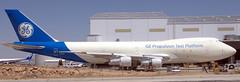 Boeing 747-121 N747GE (707-348C) Tags: victorville kvcv vcv airliner jetliner boeing boeing747 b741 testbed generalelectric expanam n747ge stored usa california n744pa