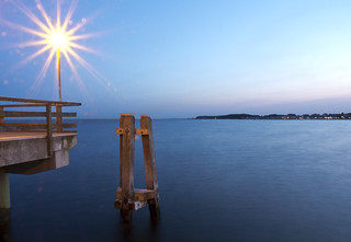 blue hour shot at the Baltic Sea