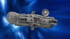 The Milllennium Falcon In Hyperspace Pic 1 (Evrant) Tags: lego star wars starship spaceship millennium falcon 75105 modified digital mods