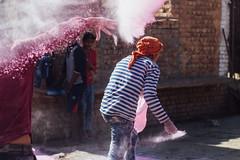 Throwing Gulal During Holi (AdamCohn) Tags: abeer adamcohn bankebiharimandir hindu india shribankeybiharimandir vrindavan gulal holi pilgrim pilgrimage अबीर गुलाल होली