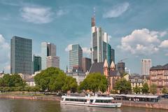 Frankfurt am Main (pni) Tags: cityscape boat river main skyline sky cloud highrise building mainhattan frankfurtammain ger18 germany deutschland pekkanikrus skrubu pni