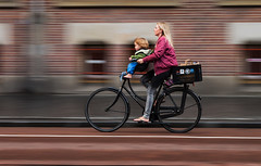 Daily life (Pixilated Planet) Tags: bicycle woman baby girl cycle streets amsterdam travel street