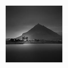 Lakeside (Nick green2012) Tags: square silence longexposure blackandwhite iceland minimal landscape