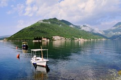 Bay of Kotor (Jocelyn777) Tags: landscapes water sea seascapes boats mountains clouds reflections waterreflections bayofkotor perast montenegro balkans travel