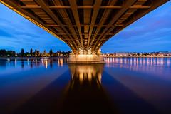 DEMARCATION | Zöldhatár (krisztian brego) Tags: sony a7 ii ilce7m2 voigtländer ultra wideheliar 12mm f56 aspherical iii budapest margit bridge híd danube duna night sky river island