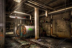 Boiler Room (Jan Fenkhuber Photography) Tags: urbex cliniquedudiable france alsace urban dark hdr photography clinic sanatorium hotel abandoned decay exploration building light sun indoors rust metal industrial electricity boiler room urbanexplorationalsacecliniquedudiableeuropefrancestosswihr