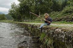 Miraculous catch ('aNtOiNe') Tags: vert antoine antoinepillaud art nikon nuage natural nature d800 sigma sigmaart 35mm europe france fr fish fishing water wild kid