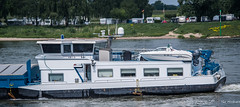 2018 - Germany - Kaiserswerth - Rhine River (Ted's photos - For Me & You) Tags: 2018 cropped germany kaiserswerth nikon nikond750 nikonfx tedmcgrath tedsphotos vignetting dusseldorfkaiserswerth rhineriver rhine river ship boat yamaha outboard outboardmotor campers trailers water wideangle widescreen