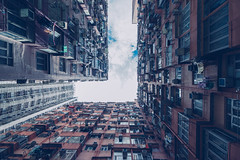 The right Angel - Explore # 81 (entry) (**capture the essential**) Tags: 2017 architektur balconies balkone colours condominium courtyard estate fenster flats fotowalk hauses hochhäuser hongkong houses häuser innenhof intothesky sky skyscraper sonya7m2 sonya7mii sonya7mark2 sonya7ii sonyfe1635mmf4zaoss sonyfe41635 sonyilce7m2 urbancity vintage windows wohnungen farbig indenhimmel urban urbanliving